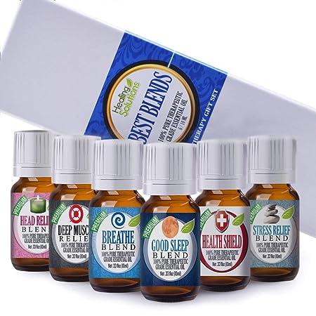 Amazon.com: Juego de aceites esenciales Best Blends ...