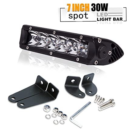 30w 7in spot barra led largo alcance faros de trabajo led ...