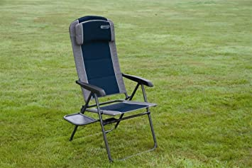 Ragley Pro Blue Recline Comfort Chair Side Table Outdoor Camping