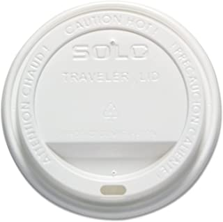 """product image for """"Traveler Drink-Thru Lid, 12-16oz Hot Cups, White, 300/Pack, 6 Packs/Carton"""""""