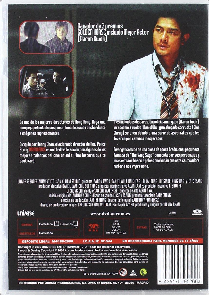 Amazon.com: Divergence (Import Movie) (European Format - Zone 2) (2006) Aaron Kwok; Eric Tsang; Ning Jing; Ekin Cheng;: Movies & TV