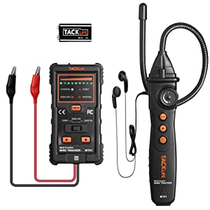 TACKLIFE Underground Wire Tracker Locator Cable Tester MT01 with Earphone for Locate Wires Irrigation Pet Fence Wires with Professional Tone and Probe