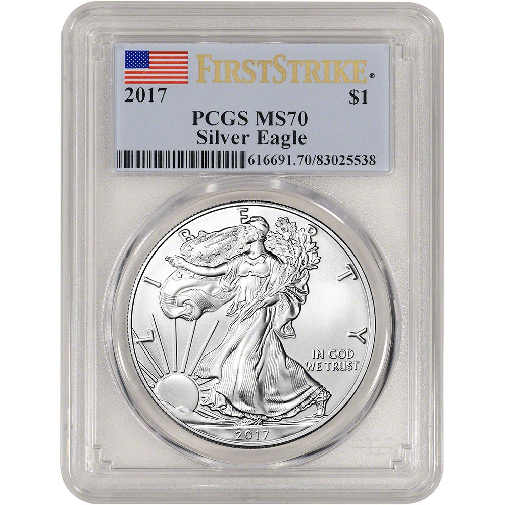 2017 American Silver Eagle (1 oz) First Strike $1 MS70 PCGS