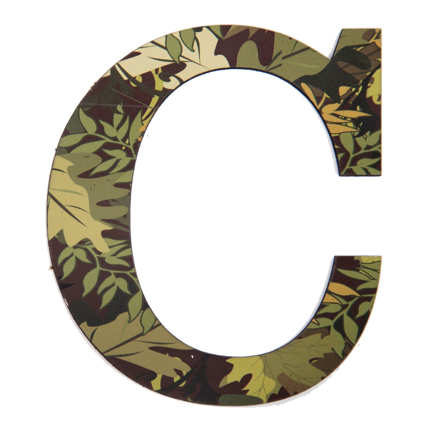 Amazon Com 11 Tall Mossy Oak Designer Camo Wall Letter C Camo Pattern 3d Wall Decor Unique Wall Initial For Living Room Bedroom Man Cave Boys Room Girls
