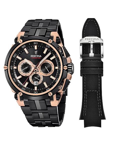 0a3d88f9a160 Festina Reloj Cronógrafo para Hombre de Cuarzo con Correa en Acero  Inoxidable F20329 1  Amazon.es  Relojes