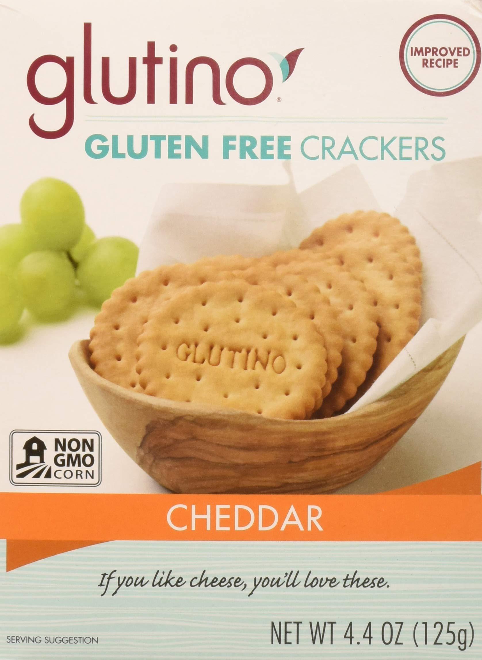 Glutino Cheddar Cracker, 125 gram - Pack of 6 by Glutino