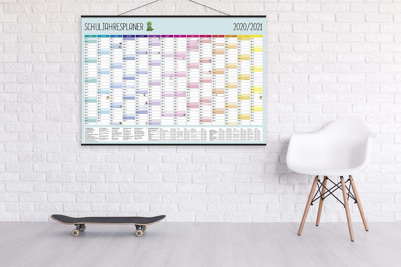 Lehrer /& Eltern XXL Schuljahresplaner 2019//2020-14 Monate 100 x 70 cm Poster// Plakat Premium Wandplaner mit lustigen Illustrationen f/ür Sch/üler