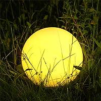 Albrillo RGB Luz Solar de Jardín - Iluminación Exterior LED de Globo de 25cm, Lámpara Esfera con 8 Colores Ajustables…