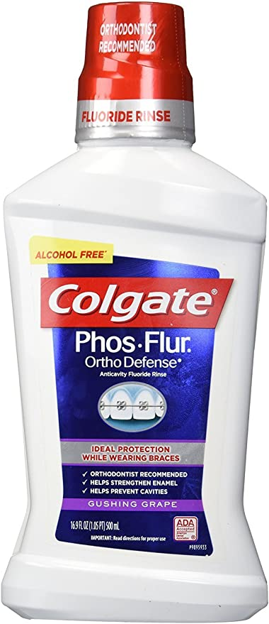 Amazon.com: Colgate Phos-Flur Anti-Cavity Fluoride Rinse, Gushing ...