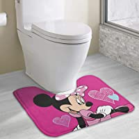 "Contour Bath Rug Love Minnie Mouse U-Shaped Toilet Floor Rug Shower Mat Non Slip Bathroom Carpet 19.3"" X 15.7"""