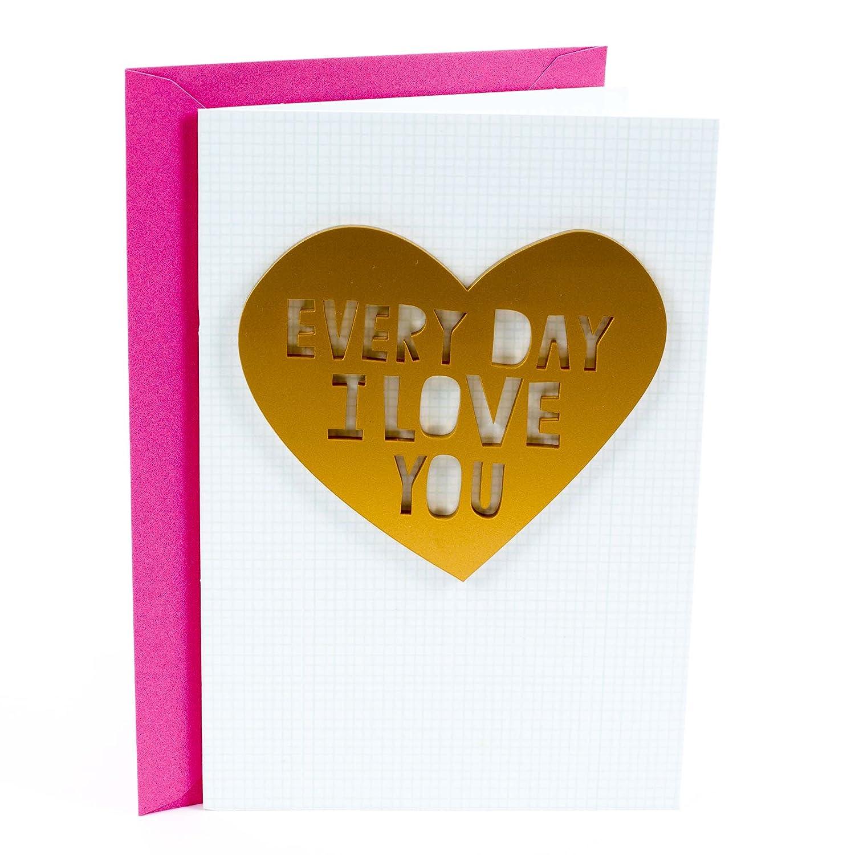 Amazon hallmark signature love birthday greeting card heart i amazon hallmark signature love birthday greeting card heart i love you office products kristyandbryce Image collections