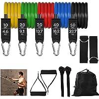 IZSUZEE Bandas Elasticas Musculacion, Juego de 12 Piezas, Bandas de Resistencia,Gomas Elasticas Fitness. Interior y…