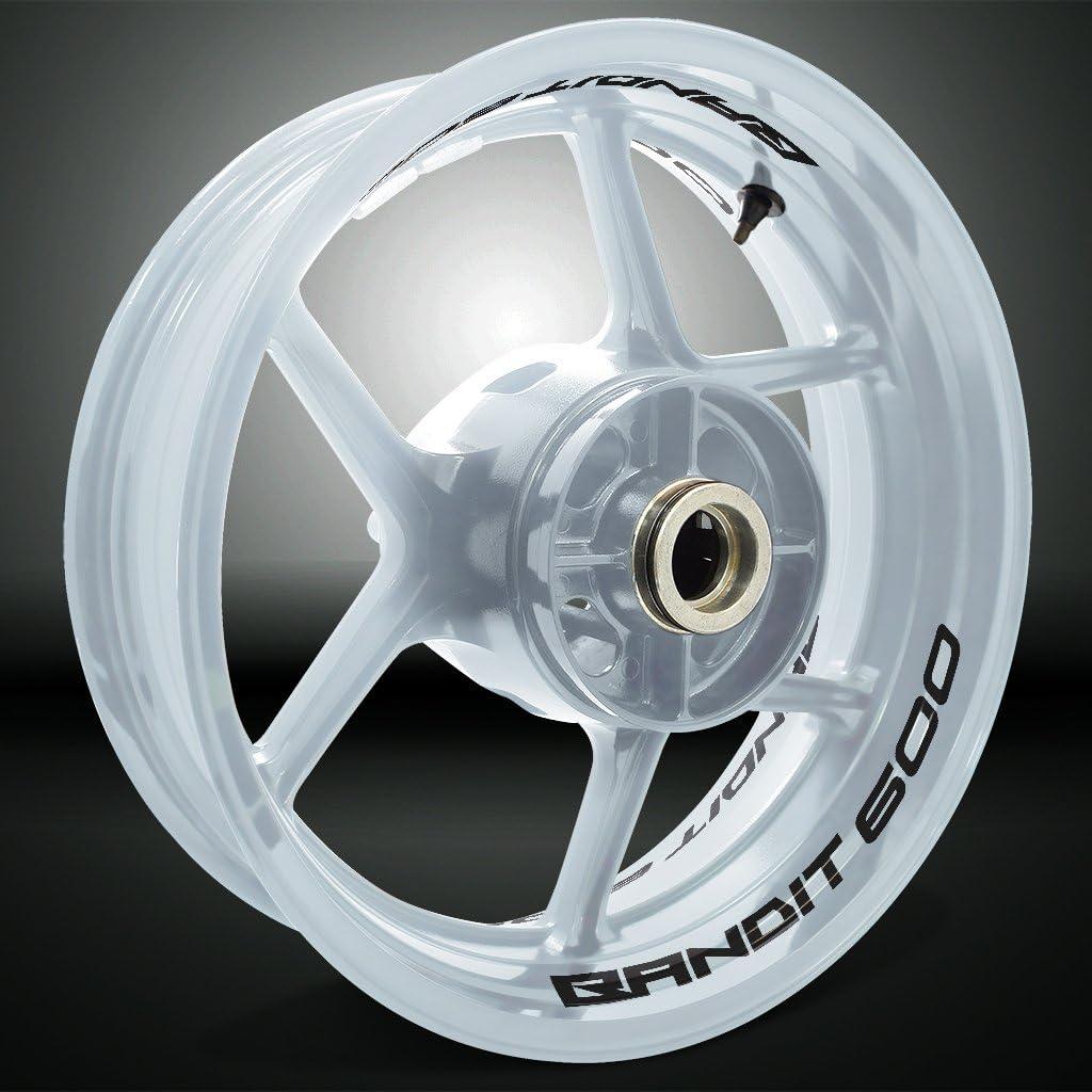 2 Tons Am/éthyste Jante de Moto d/écalcomanies Autocollant Accessoire pour Suzuki Bandit S