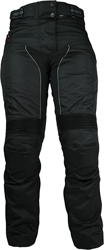 HEYBERRY Damen Motorradhose sportlich Textil Schwarz Wei/ß Gr 36 S