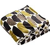 ナイスデイ 毛布 bowl柄カーキ シングル (120×200cm) yucuss ずっとふれていたい 筒型毛布 北欧デザイン 3609F8K1
