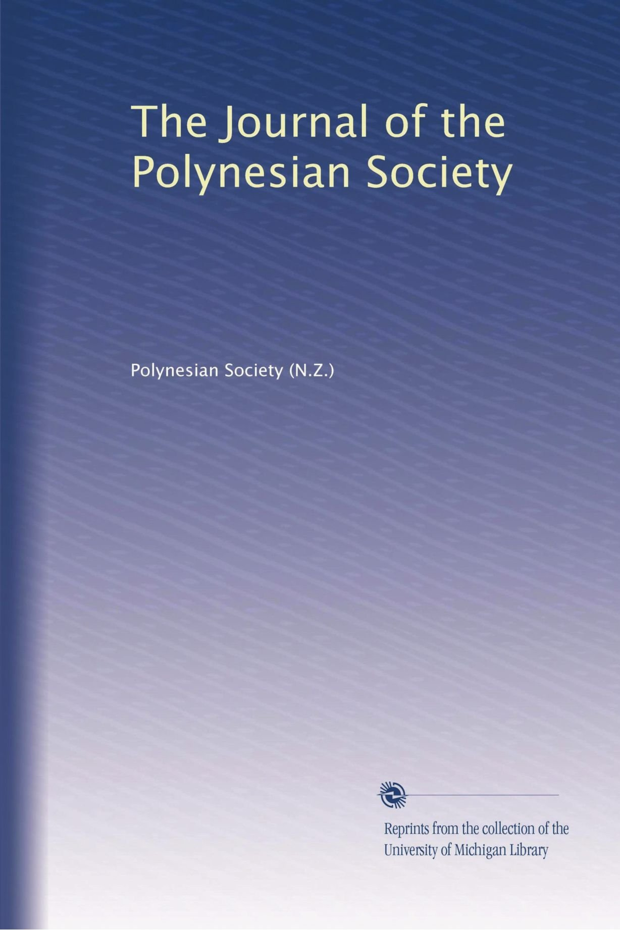 Download The Journal of the Polynesian Society pdf