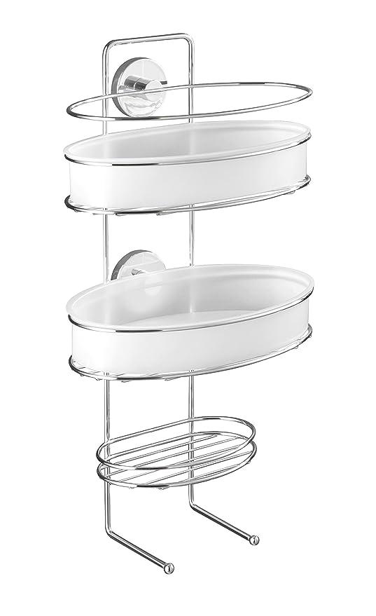 2 opinioni per WENKO 20891100 Vacuum-Loc porta oggetti doccia Milazzo- fissaggio senza trapano,