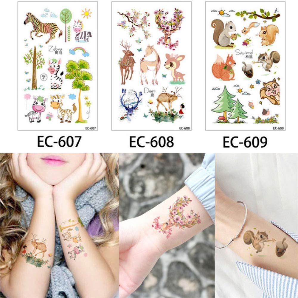 adgkitb Etiqueta engomada Temporal del Tatuaje 2pcs Niños ...
