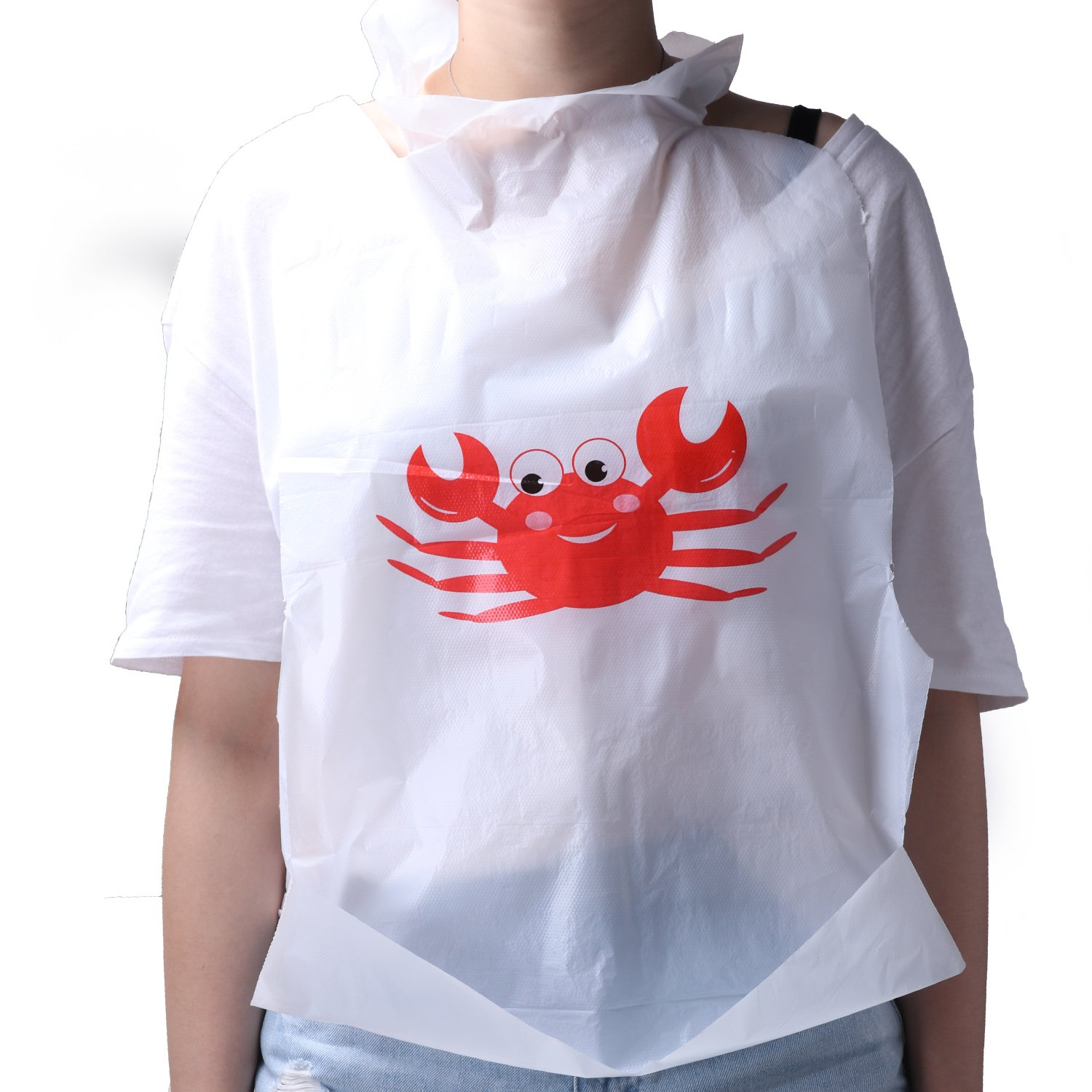 90-Piece Party Supply Crab Bibs Seafood Feast Adult Disposable Bibs Protect Clothes from Spills