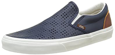 Vans UA Classic Slip-on, Zapatillas para Hombre, Azul (Leather Perf Dress