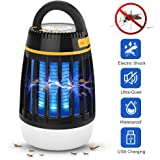 WloveTravel Mosquito Killer,3 in 1 Bug Zapper Lamp Camping Lantern and Emergency Charging 2200mAh Rechargeable Battery with Retractable Hook 3 Modes Lights (Black)