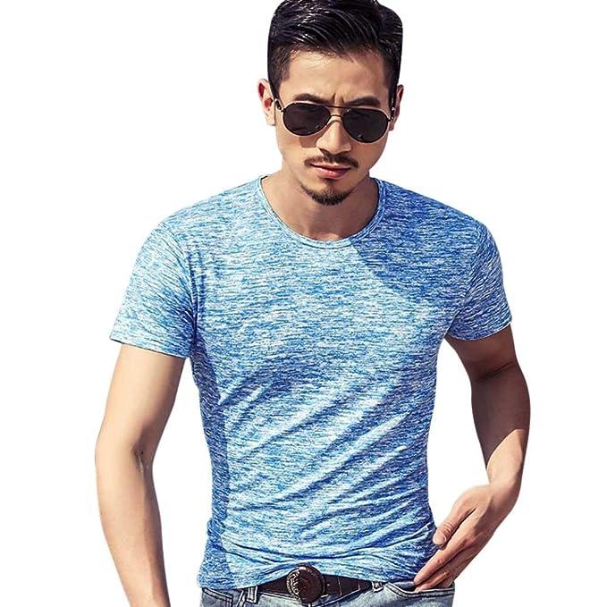 Camiseta para Hombre, Camiseta de Manga Corta con Estampado de Manga Corta de Verano para Hombre: Amazon.es: Ropa y accesorios