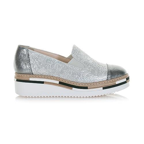 LORENZO MARI Mujer Lor020argento Mocasines plateado Size: 40: Amazon.es: Zapatos y complementos
