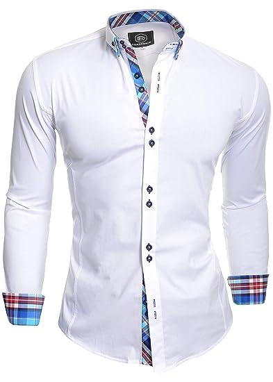 ca93c24f3ae D R Fashion Chemise élégante avec col classique slim Italian Design  diverses couleurs