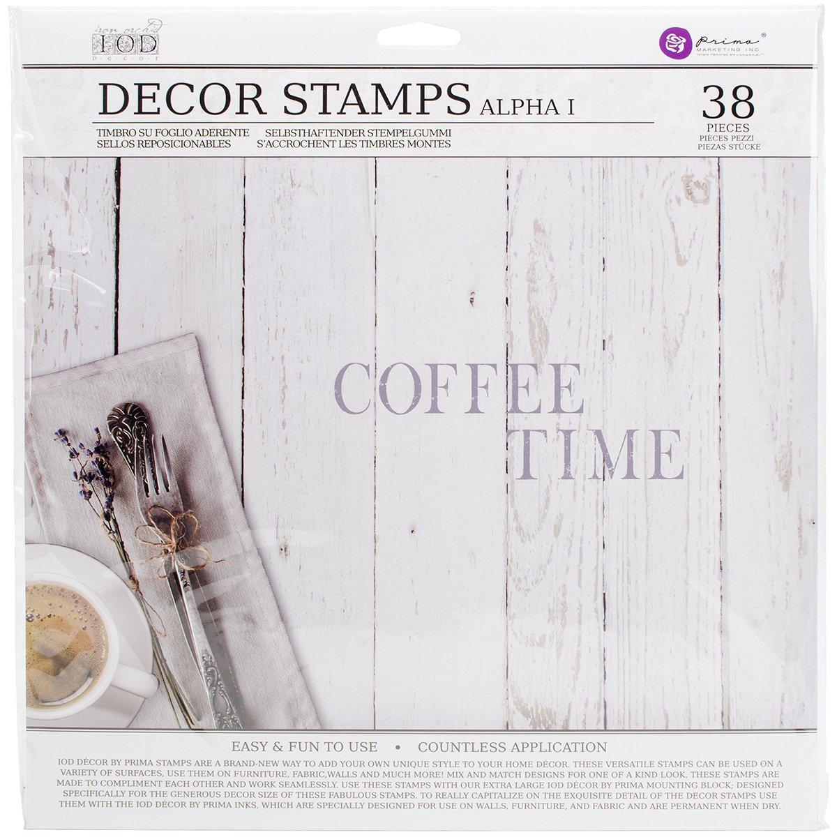 Prima Marketing IOD Decor Stamps -Alpha I