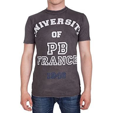 424f3c49 Pierre Balmain University Of PB 1946 Uni Printed Crew T-Shirt Top Tee Grey  New (S, Grey): Amazon.co.uk: Clothing