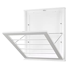 Whitmor Wall Mounted Drying Rack, White