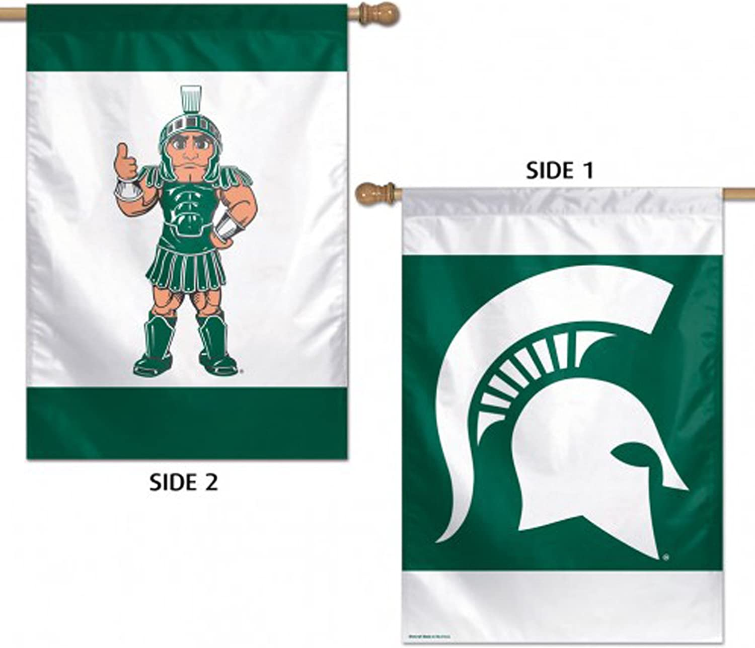28 x 40 WinCraft NCAA Michigan State University 32709013 2 Sided Vertical Flag