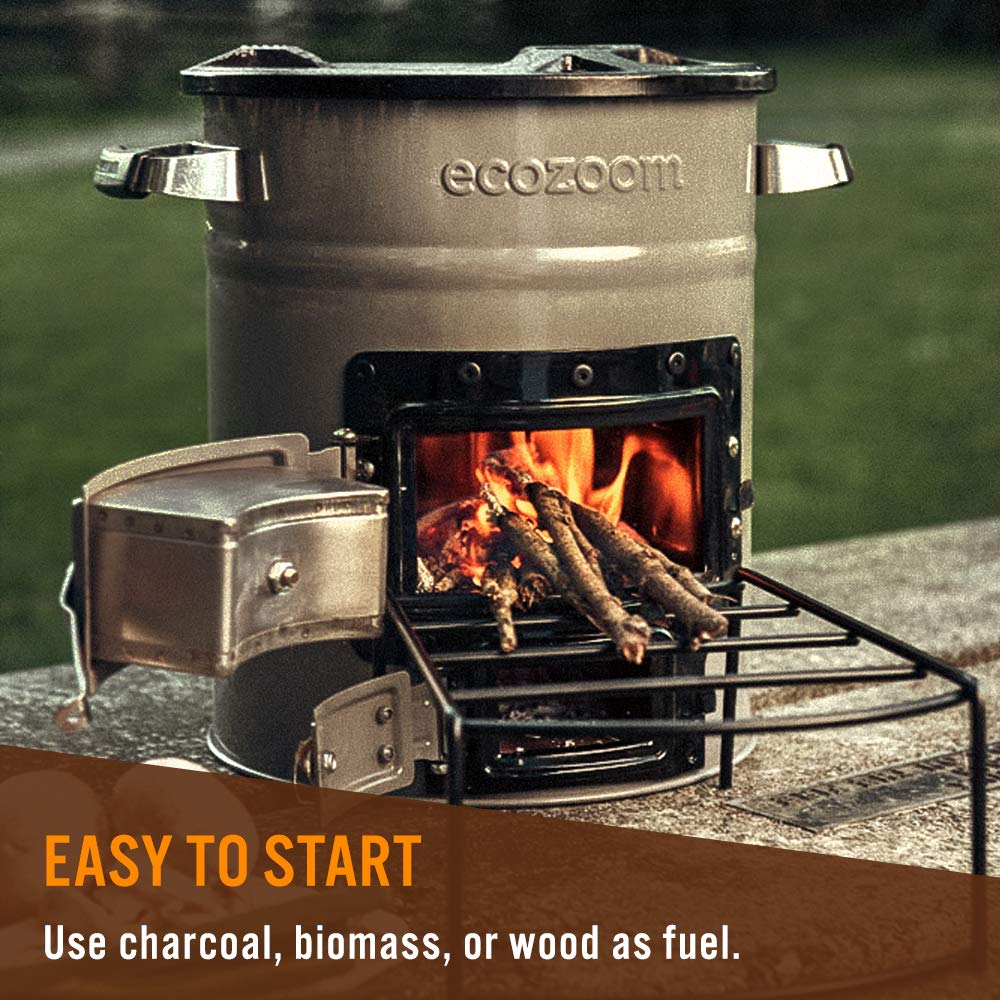 or Charcoal Fuel EcoZoom Zoom Versa Rocket Stove Biomass Wood