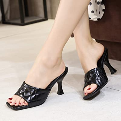 Details about  /Women/'s Ladies Solid 3 Colors Backless Mid Heel Slippers Sandals Shoes Mules B