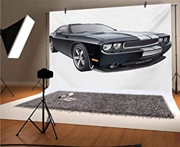 10x15 FT Photo Backdrops,Customized Red Dragster Automobile in Graphic Style Speed Fast Vehicle Powerful Background for Kid Baby Boy Girl Artistic Portrait Photo Shoot Studio Props Video Drape Vinyl