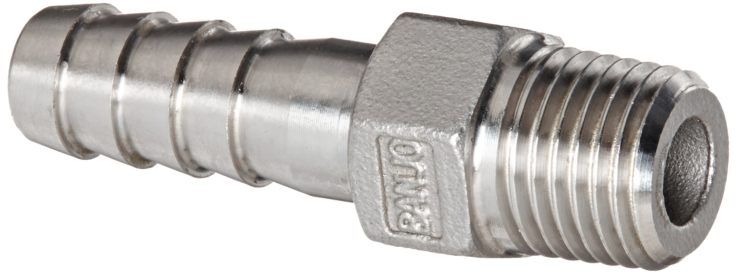 Banjo HB025-038SS Stainless Steel 316 Hose Fitting, Adapter, 1/4'' NPT Male x 3/8'' Barbed
