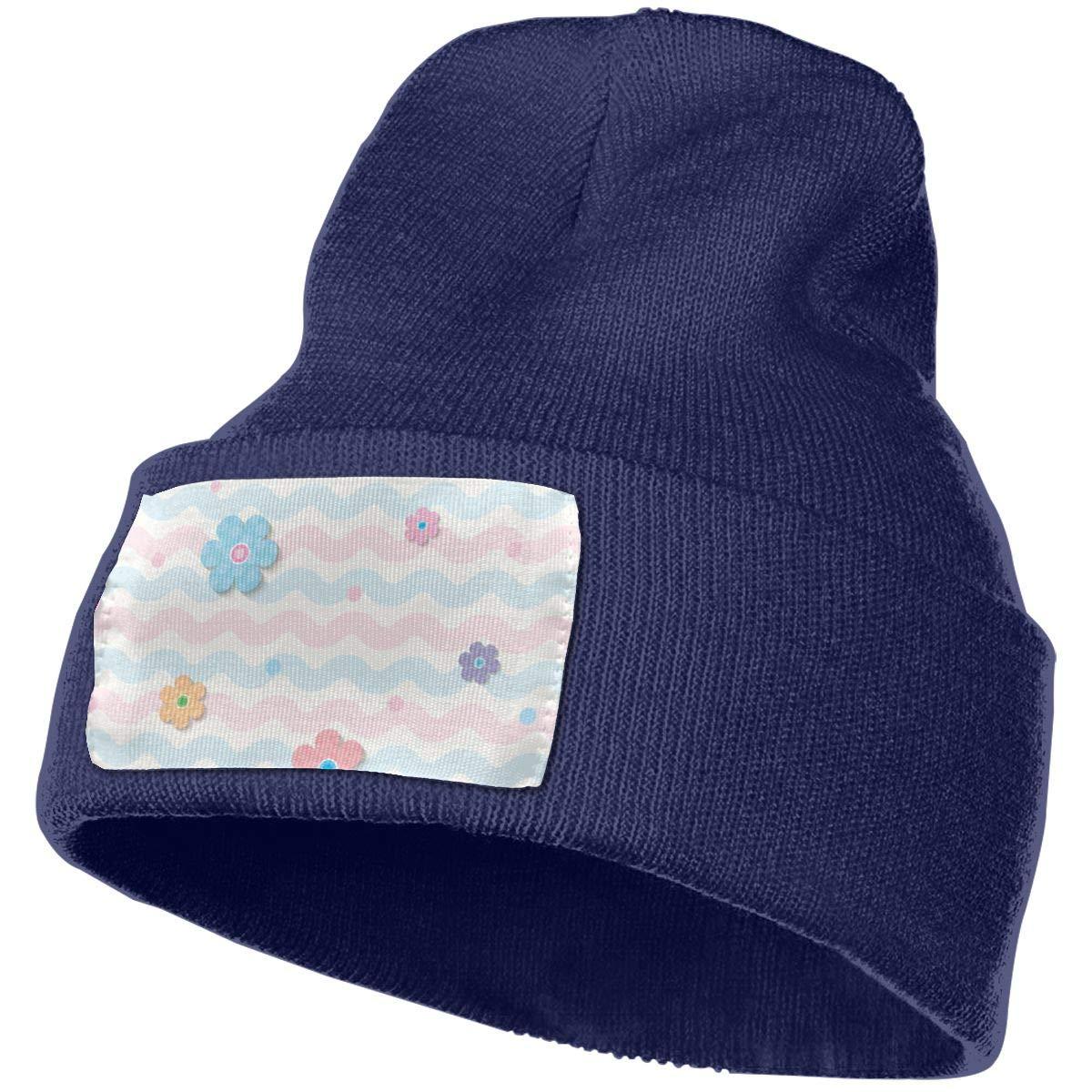 ONHIM Spring-Flower Unisex Winter Warm Knit Beanie Hat Slouchy Serious Style Beanie