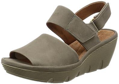 ab3ad56acfe Clarks Women s Clarene Allure Sage Nubuck Grey Leather Fashion Sandals -  5.5 UK India (