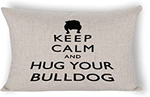 By Unbranded Animal Pet Dog French Bulldog Throw Summer Decorations Farmhouse Throw Pillowcase Decorative Cushion Case for Home Decor Lumbar Pillowcase 12×20 inch