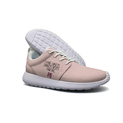 Cancer Never Had Me Pink Ribbon Men Lightweight Walking Shoes Casual Sports Running Shoe Fashion