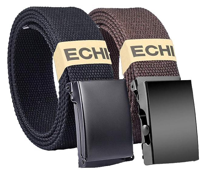 ECHI - Cinturón trenzado de tela unisex para hombre 7eb97b3cccf6