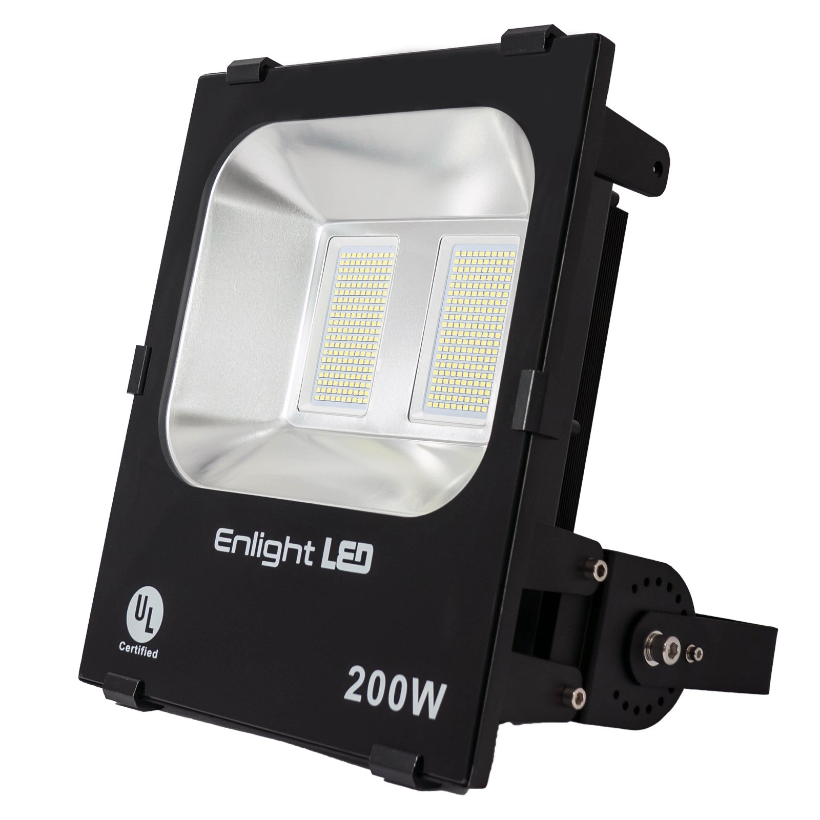 Enlight LED LD-FD-K200U UL Certified 200W LED Flood Light 120 Degree Light Angle 20,000 lm, Cool White, Heavy Duty Aluminum by Enlight LED