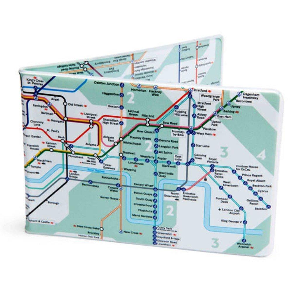 London U-Bahn Stadtplan Crafted Lines Reisen Oyster Card Brieftasche Gr/ün Green