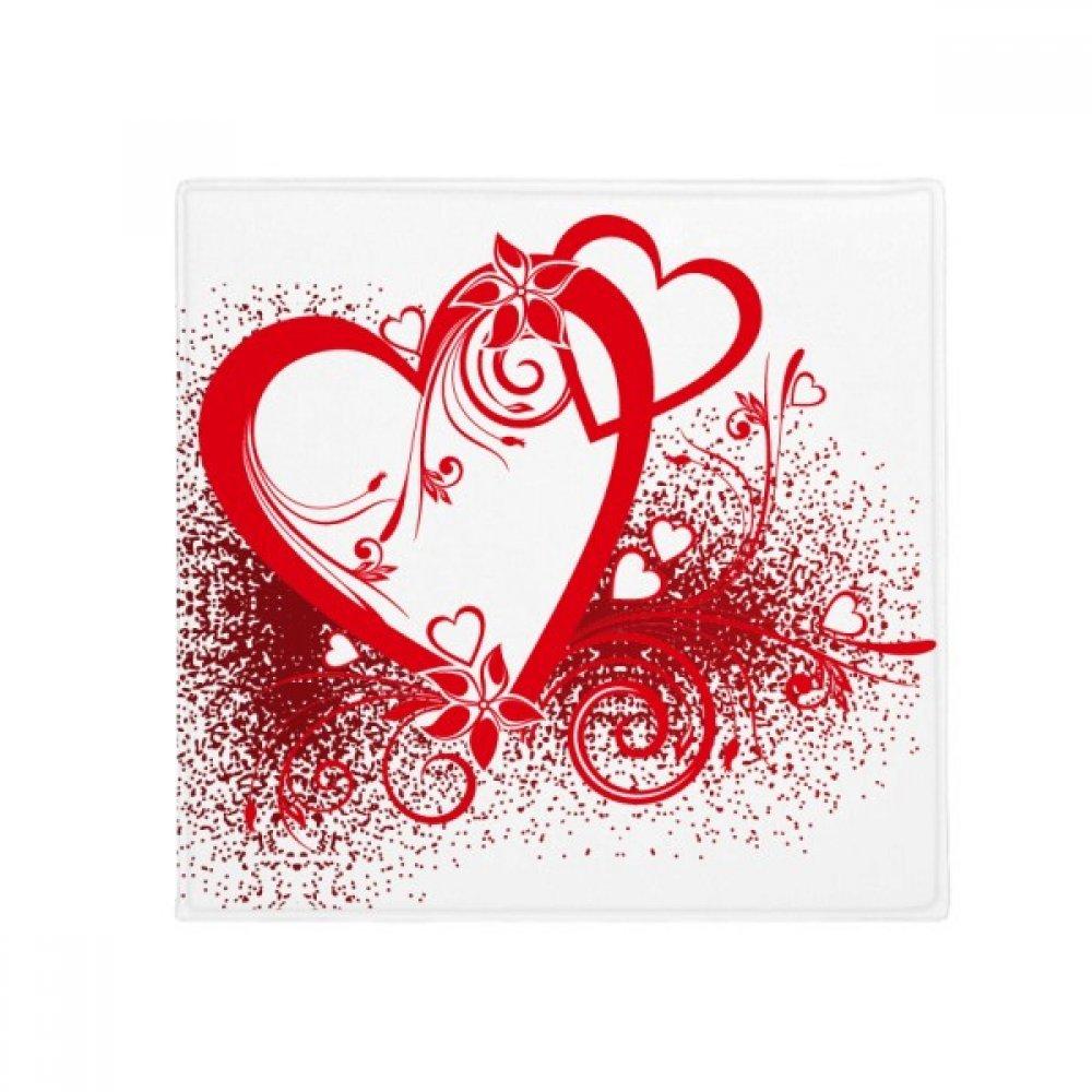 DIYthinker White Red Hearts Flowers Valentine's Day Anti-Slip Floor Pet Mat Square Home Kitchen Door 80Cm Gift
