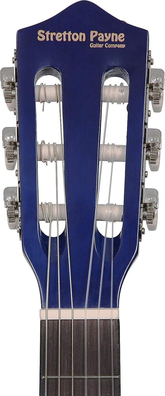 91,4 cm Guitarra ac/ústica 3//4/ pack de cuerdas de nailon para guitarra infantil cl/ásica color azul