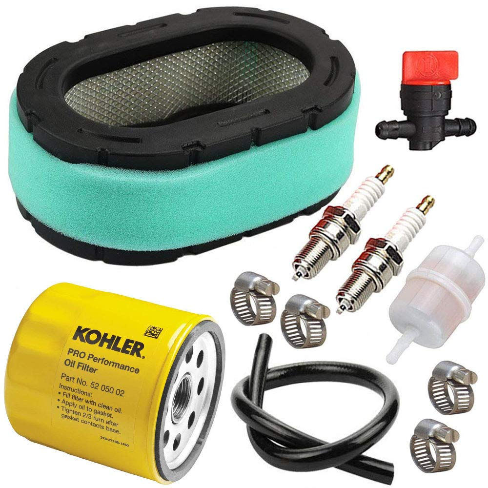 TOPEMAI 32-083-09-S Air Filter for Kohler KT715 KT725 KT735 KT740 KT745 Engine MTD Lawn Mower with 52 050 02-S Oil Filter