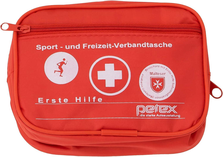 Petex 43930112 Sport Und Freizeit Verbandtasche Rot Auto