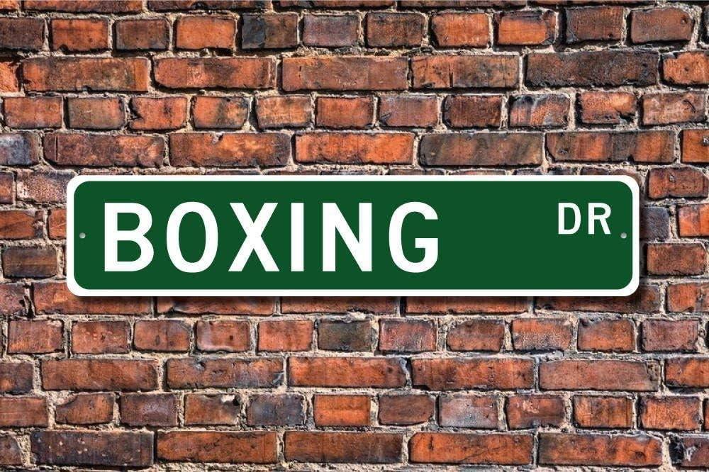 4 x 16 Pouces TNND Panneau de Boxe pour Fan de Boxe et de Boxe pour ext/érieur int/érieur et cl/ôture d/écoration en m/étal Cadeau Boxer