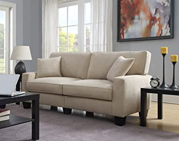 Serta RTA Palisades Collection 78u0026quot; Sofa In Silica Sand