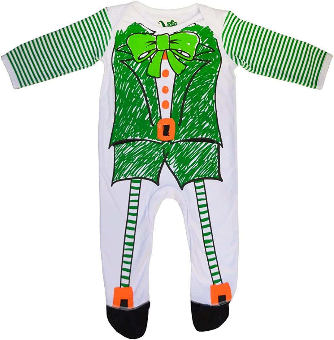 Traditional Craft White//Green Leprechaun /& Shamrock Baby Romper